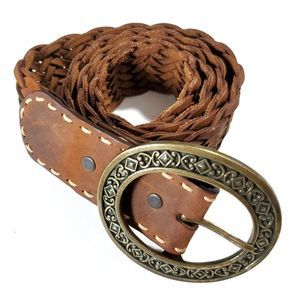 Brighton brown leather belt